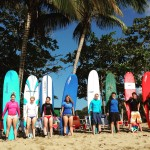 Surfing in Rincon, Puerto Rico.