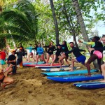 Group Surfing Lessons for Surfing Rincon.