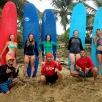 All Girl Surf Session - surf lessons in Rincon, Puerto Rico.