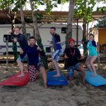 family surf lessons in Rincon, Puerto Rico.