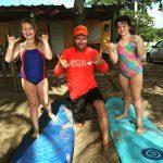 kids surf lesson in Rincon, PR.
