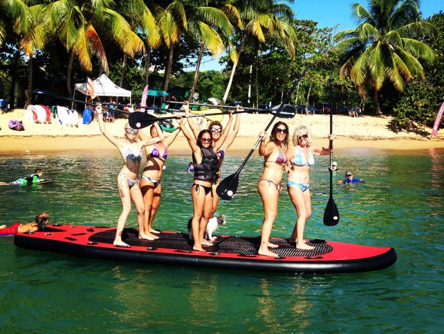 Big Red - Multi-Person SUP in Rincon Puerto Rico.