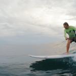 SUP Surf in Rincon, Puerto Rico.