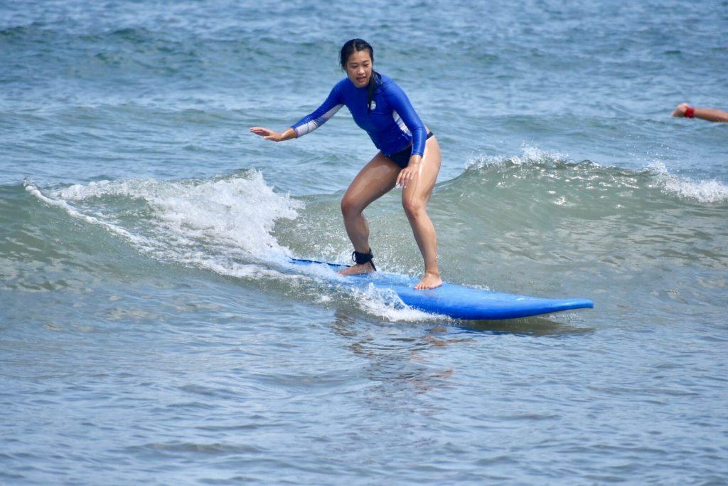 happy surf lesson in rincon