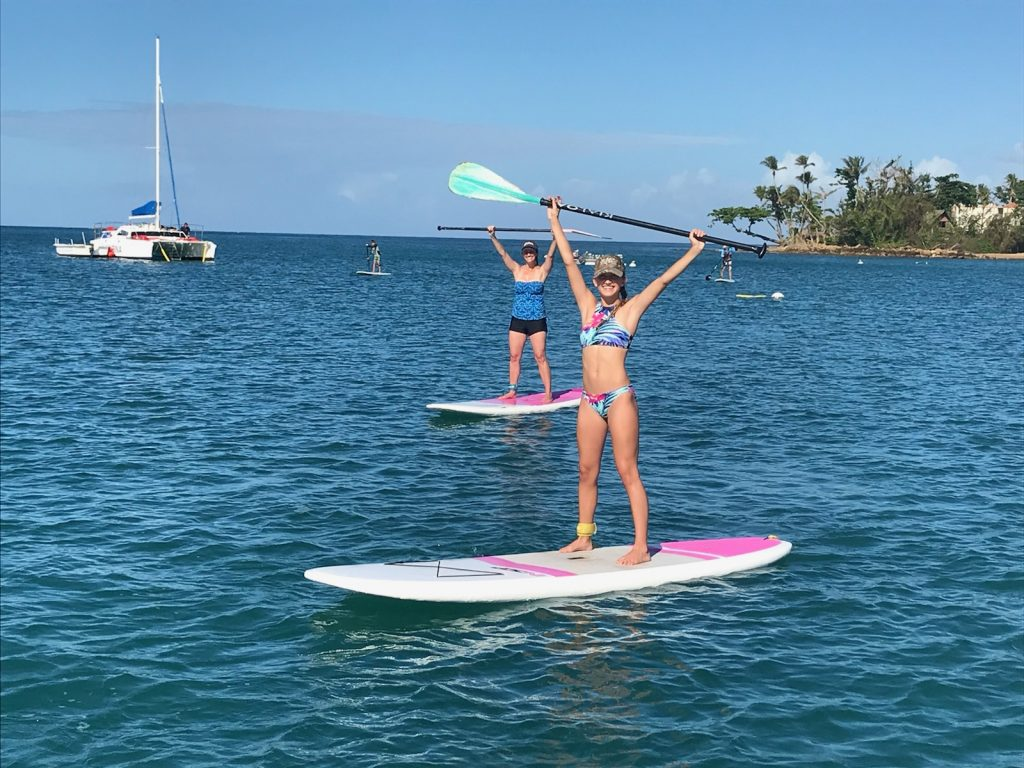 SUP Stand Up Paddleboard Tour in Rincon, Puerto Rico.