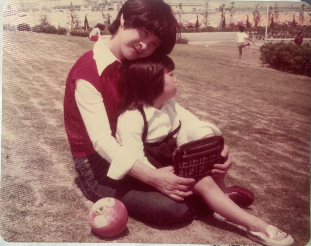 Chikako and Mom in Japan