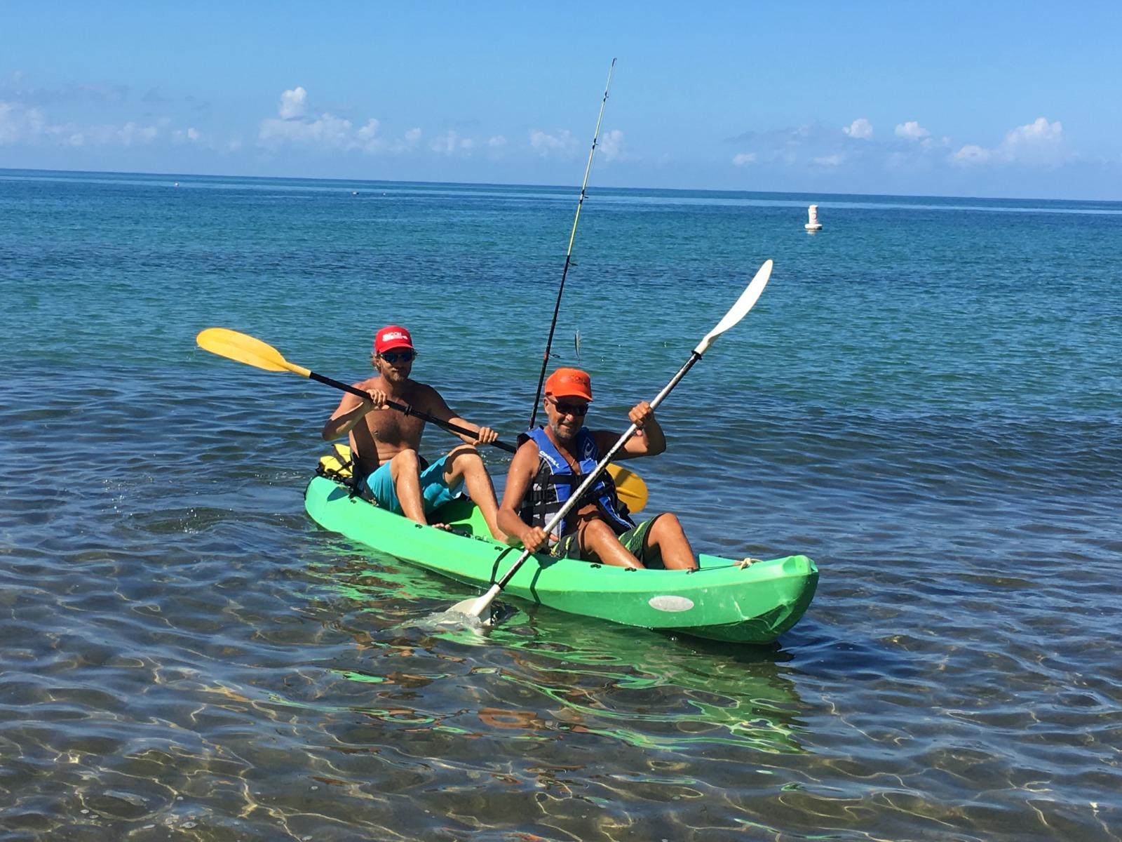 Damiano and Dad kayak